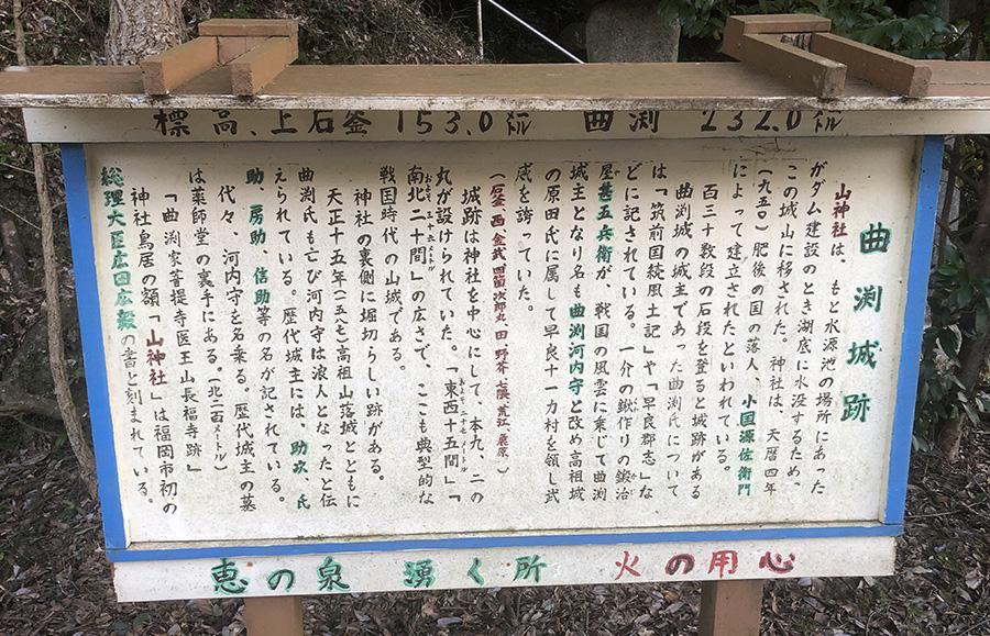 曲淵城跡説明