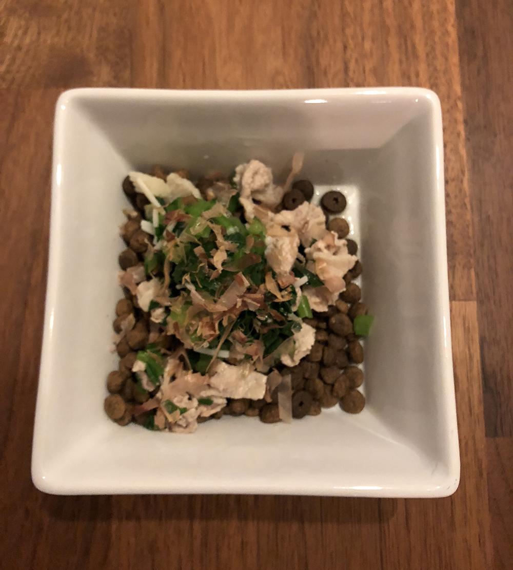 豚バラ肉&小松菜&鰹節